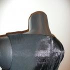bluzka asymetryczna połysk
