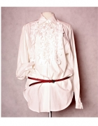 Biała bluzka z żabotem...