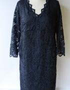 Sukienka H&M Mama Granatowa Koronkowa L 40 Nowa Elegancka...