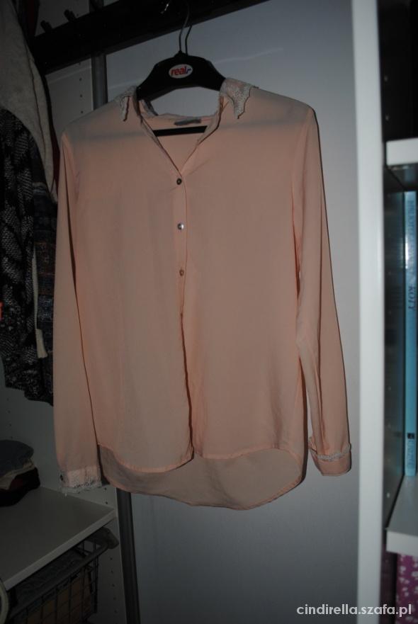 różowa pudrowa koszula pull&bear M 38 koronka...