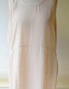 Sukienka H&M S 36 Oversize Letnia Beżowa Luzna...