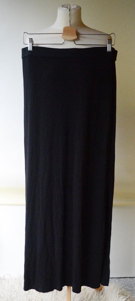 Spódnice Spódnica Czarna H&M L 40 Long Maxi Długa Rozporki