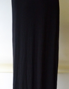 Spódnica Czarna H&M L 40 Long Maxi Długa Rozporki...