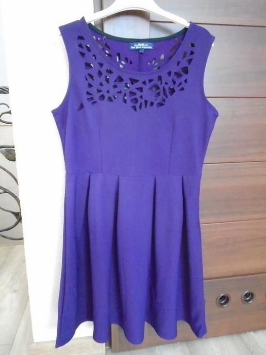 fioletowa sukienka L