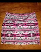 NOWA spódniczka mini Esmara azteckie wzory 42...