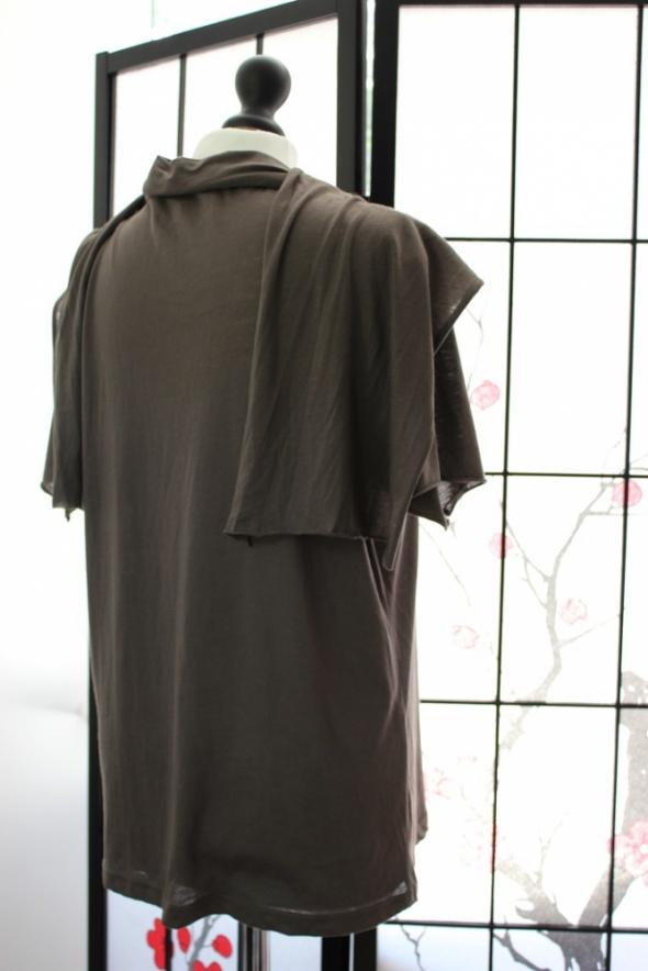 bluzka 42 xl oversize oliwkowa koszulka elegancka w Bluzki