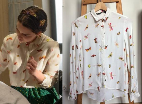 Koszula w owady Emilii Clarke...