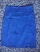 Niebieska spódnica ze złotymi zameczkami 38...