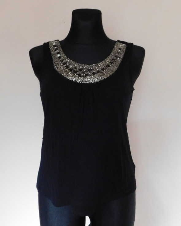 Top H&M czarna bluzka top 36 38