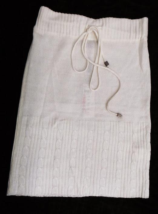 Calliope śliczna spódnica jasna kremowa wzór HIT S...