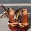 Skórzane wiązane sandały japonki marki Miss Sixty...