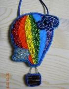 handmade naszyjnik wyszywany koralikami balon...