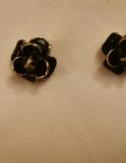 piękne stylowe kolczyki klipsy kwiaty...
