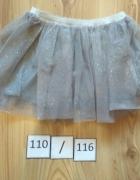 Nowa tiulowa szara spódniczka 110 116