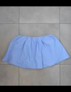 Zara nowa mini spódniczka baby blue spodenki szorty z popeliny...