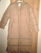 Street One nowy długi puchowy płaszcz nude beżowy...