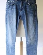 Spodnie H&M 30 Skinny Fit M 38 Postrzępione Dzinsy...