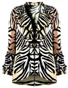 Koszula by H&M zebra z żabotem rozm S...
