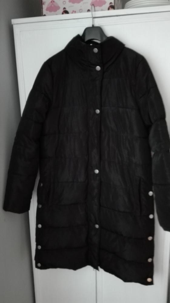Reserved czarna pikowana zimowakurtkapłaszcz...