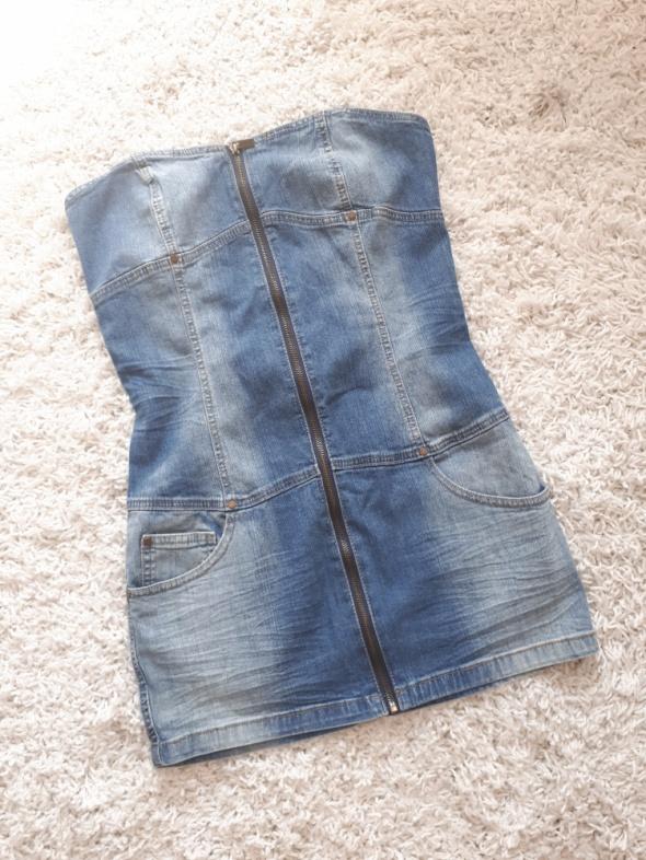 sukienka jeansowa dżinsowa na lato...