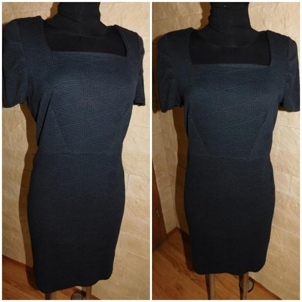 Sukienka czarna elegancka 46 XXL wesele bal
