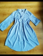 Koszula tunika niebieska paski H&M 40 42 L XL...