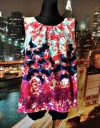 wallis bluzka modny wzór kwiaty motylki jak nowa 46...