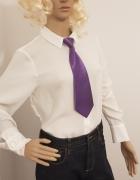 Fioletowy żakardowy krawat marki Grek...