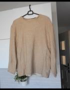 Zara beżowa ciepła bluza nude pluszak...