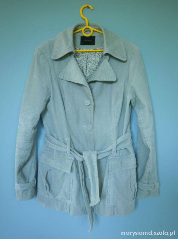 Vero Moda błękitna kurtka dłuższa sztruksowa...