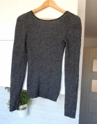 Jacqueline de Yong czarny sweter metaliczny dopasowany...