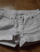 białe szorty spodenki 38 10 M New Look...