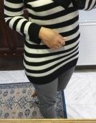 Atmosphere sweter w pasy czarno białe r 40...