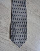 Krawat męski w paski klubowy granatowy szary srebrny Nek