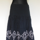 Papaya czarna rozkloszowana spódnica midi 40