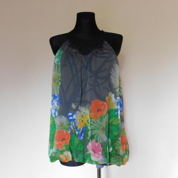 Next bluzka tunika mgiełka kwiaty 36 38...