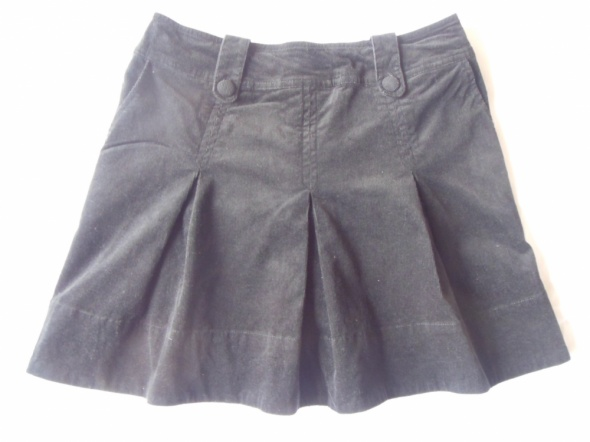 Spódnice H&M czarna spódnica sztruks plisowana 38 mini