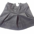 H&M czarna spódnica sztruks plisowana 38 mini