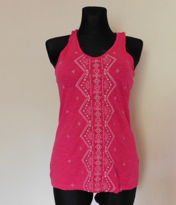 Top H&M bluzka różowa bokserka 36 38