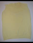 Sweterek cienki pastelowy żółty...