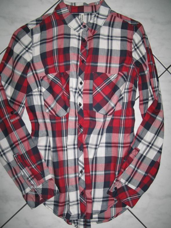STRADIVARIUS damska koszula w czerwoną kratę roz 36...