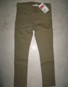 H&M zielone khaki jeansy dziewczęce roz 110...