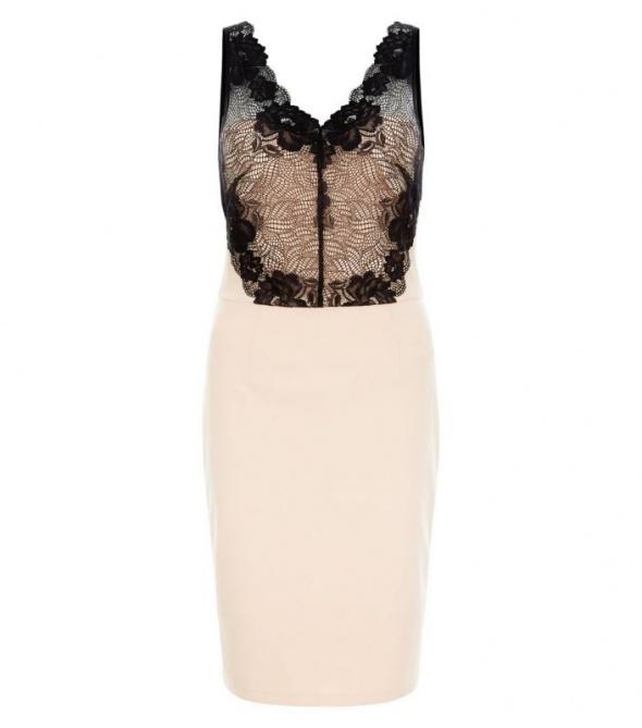 Suknie i sukienki Sukienka New Look koronkowa wesele studniówka