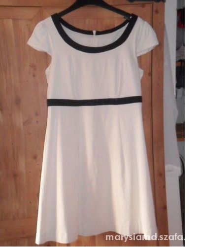 Oasis baby doll kremowa sukienka wesele beżowa...