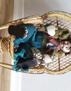 Lalka porcelanowa menel fotel kolekcjonerska alkoholik żul...