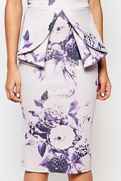 Spódnice spódnica midi floral kwiaty ołówkowa