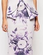 spódnica midi floral kwiaty ołówkowa