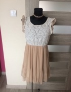 sukienka koronka szyfon zwiewna