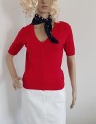Czerwona bluzka sweterek na krótki rękaw...