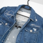 Missguided nowa jeansowa kurtka katana jeans dziury ripped hafty
